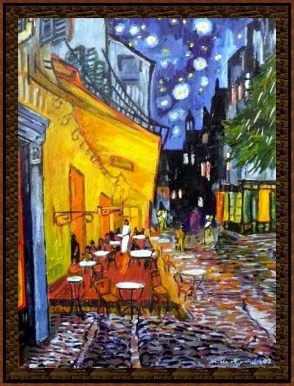 Terrasse de Café la Nuit d'après VAN GOGH.