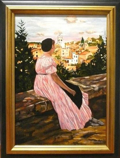 La Robe rose d'après BAZILLE  (50X70)