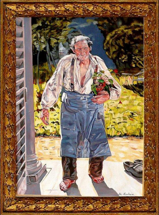 Le vieux Jardinier d'après Emile CLAUS.