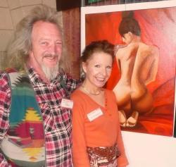 Phil et moi devantses peintures