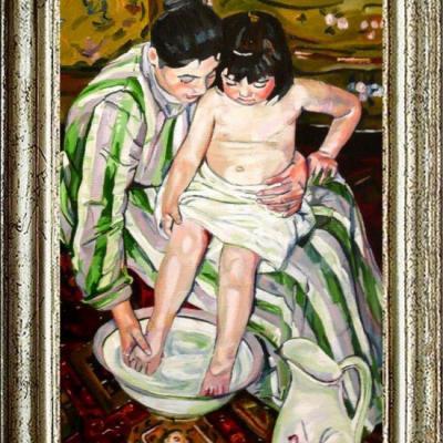 Le Bain d'après Mary CASSATT (50X70)