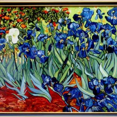 Les Iris d'après VAN GOGH (80X100)