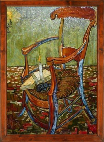 la Chaise de GAUGUIN d'après VAN GOGH (80X100)