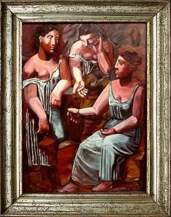 Trois Femmes près d'un Puits d'après PICASSO  (50X70)
