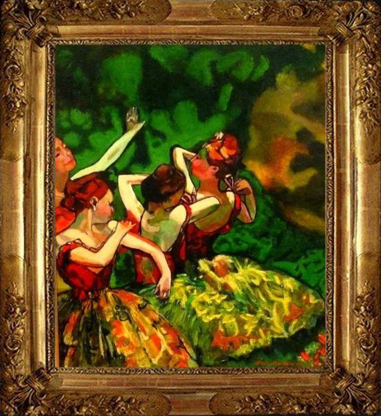Danseuses d'après DEGAS