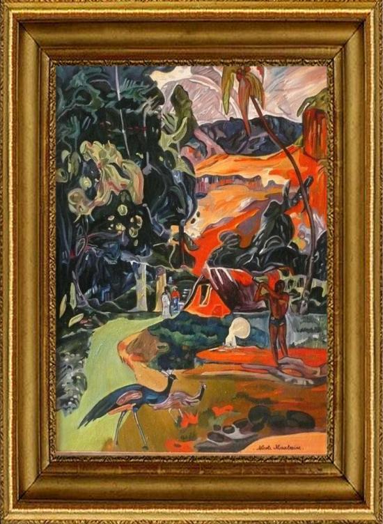 Paysage d'après Paul GAUGUIN  (50x70)